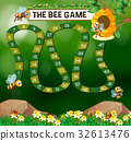Game template with bees flying in garden 32613476