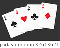 aces suit cards hearts clubs spades diamonds icon 32613621