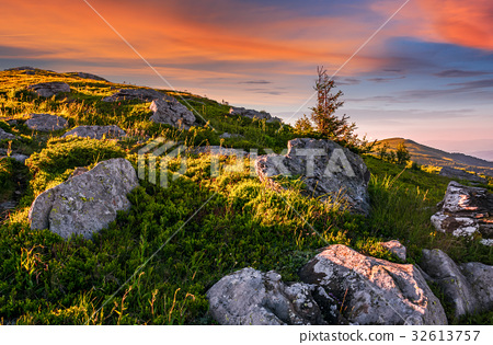 epic landscape in Carpathian high mountain ridge 32613757