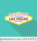 Classic retro Welcome to Las Vegas sign 32614252