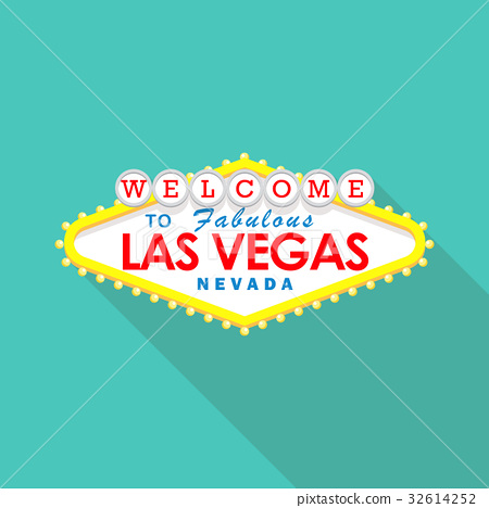 Classic retro Welcome to Las Vegas sign 32614252
