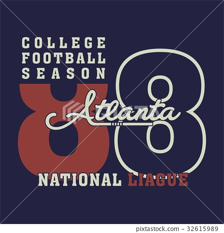 graphic college football for shirt and print 32615989