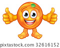 Orange Fruit Mascot Cartoon Character 32616152