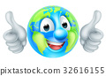 Earth Day Cartoon Character 32616155