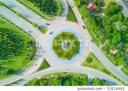 Aerial view of Royal Park Rajapruek roundabout 32618462