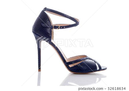 exquisite blue high-heeled sandals 32618634