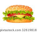汉堡 速食 白底 32619818