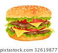 汉堡 速食 大 32619877