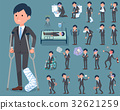 flat type Gray suit businessman_sickness 32621259