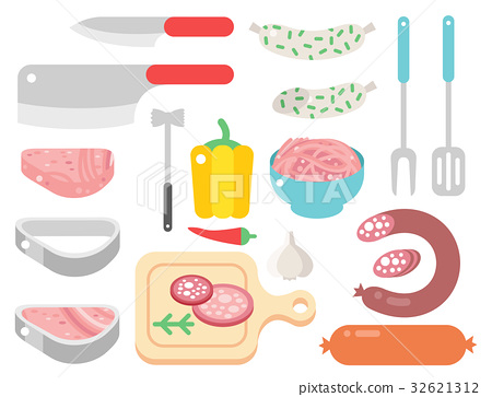Meat products ingredient and rustic elements 32621312