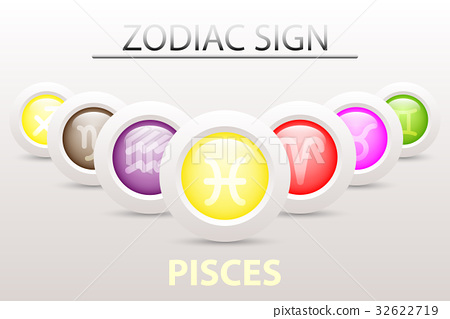 Horoscope Astrology Zodiac Sign Symbol Of Pisces Stock