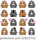 horse cartoon couple 32622732