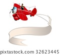 vector, airplane, banner 32623445