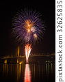 Firework display at Chao Phraya River 32625835