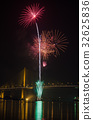 Firework display at Chao Phraya River 32625836
