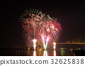 Firework display at Chao Phraya River 32625838