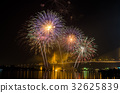 Firework display at Chao Phraya River 32625839