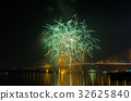 Firework display at Chao Phraya River 32625840