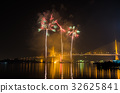 Firework display at Chao Phraya River 32625841