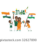 india, flag, people 32627890