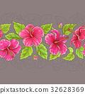 hibiscus, vector, pattern 32628369