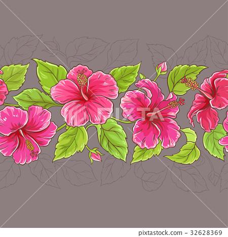 hibiscus horizontal pattern 32628369