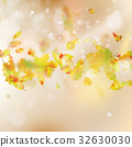 Autumn Leaves theme background. EPS 10 vector 32630030