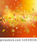 Autumn background with leaves. EPS 10 vector 32630036
