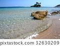 Small island near Ellinika beach, Euboea- Greece 32630209
