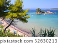 Small island near Ellinika beach, Euboea- Greece 32630213
