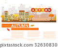 Hello autumn cityscape background 32630830
