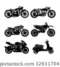 Motorcycle Icons set. 32631704
