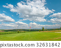 Golf course landscape Golf field green grass red 32631842