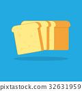 Toast bread vector icon. 32631959