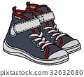 Gray and white sneakers 32632680