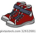 Red children sneakers 32632681