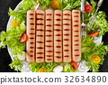 Plate With Grilled Wurst 32634890