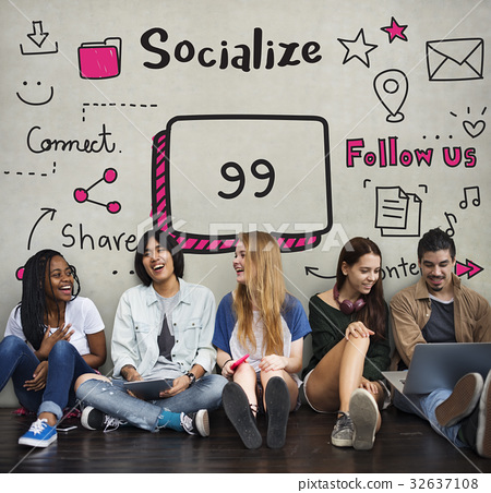 Communication Stay Connected Community Concept 32637108