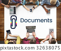 Paper Clip Mail File Attachment Graphic 32638075
