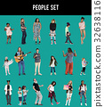 Diverse of People Enjoy Music Lifestyle Studio Isolated 32638116