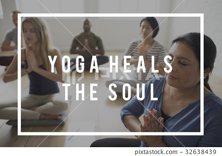 Yoga Class Exercise Strength Peaceful Healthcare Wellness Wellbeing 32638439