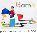 Illustration of snake and ladder board game 32638551