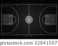 Black Denim texture of Basketball court field 32641507
