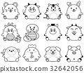 animal, monkey, vector 32642056