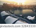 Singapore Skyline at Marina Bay from Aerial View 32643330