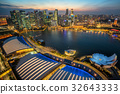 Singapore Skyline at Marina Bay from Aerial View 32643333