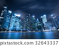 Modern City Skyline in Singapore Marina Bay 32643337