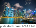 Singapore Skyline at Night from Marina Bay 32643341