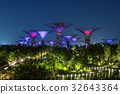 Singapore Night Skyline at Gardens by the Bay 32643364