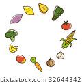 蔬菜 水果 圖標 32644342